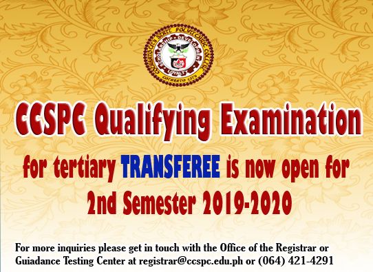 CCSPC Qualifying Examination