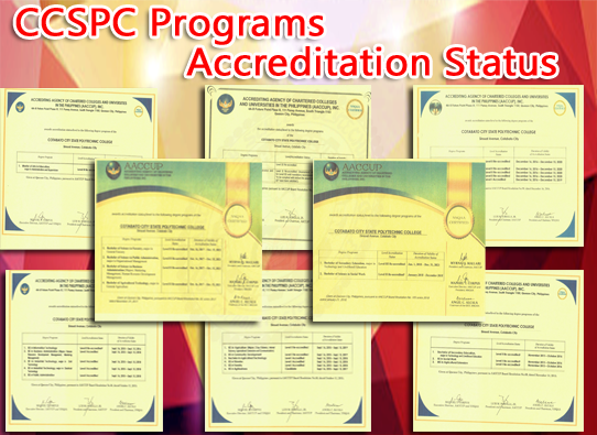 CCSPC Programs Accreditation Status (read more...)